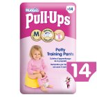 Huggies Pull Ups Potty Training Pants, Girl, Medium 11-18kg - 14s