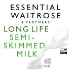 Essential Waitrose semi-skimmed long life milk - 6x1litre