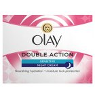 Olay Classic Care Double Action Moisturiser Night Cream Sensitive - 50ml Brand Price Match - Checked Tesco.com 16/07/2014