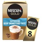 Nescafé Café Menu cappuccino decaff unsweetened coffee - 10x15g Brand Price Match - Checked Tesco.com 24/11/2014