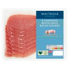 Waitrose 8 British unsmoked dry cured back bacon rashers - 250g