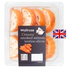 Waitrose smoked salmon terrine, 8 slices - 160g