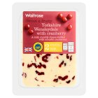 Waitrose Yorkshire mild Wensleydale cheese with cranberry, strength 2 - 225g