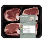 Waitrose 4 Welsh hand cut loin chops - per kg