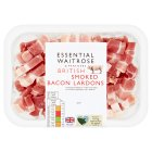 essential Waitrose British bacon smoked lardons - 200g