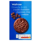 Waitrose milk chocolate chip cookies - 150g