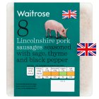 Waitrose 8 British Outdoor Bred Lincolnshire pork sausages - 454g