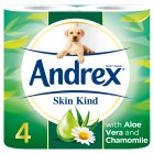 Andrex Skin Kind Aloe Vera Toilet Rolls - 4s Brand Price Match - Checked Tesco.com 30/07/2014