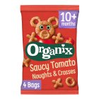Organix organic noughts & crosses goodies - 4x15g Brand Price Match - Checked Tesco.com 05/03/2014