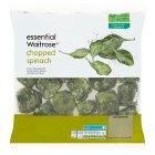 essential Waitrose frozen chopped spinach - 1kg