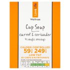 Waitrose Love life you count carrot & corriander soup in a cup, 4 servings - 4x16g