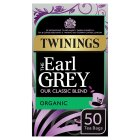 Twinings organic earl grey 50 tea bags