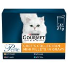GOURMET Perle Adult Cat Mini Fillets in Gravy Chefs Collection Wet Cat Food Pouch - 12x85g