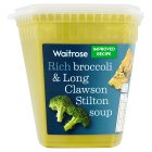 Waitrose broccoli & stilton soup - 600g