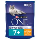 Purina ONE Senior 7+ Cat Rich in chicken & whole grains dry food - 800g