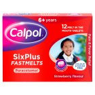 Calpol six plus fastmelts - 12s