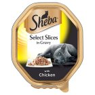 Sheba select slices of chicken in gravy foil tray cat food - 85g Brand Price Match - Checked Tesco.com 26/08/2015