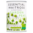 essential Waitrose garden peas in water - drained 180g
