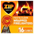 Zip energy wrapped firelighters - 16s Extra Value