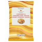 Waitrose hand cooked cheddar & onion crisps - 150g