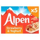Alpen 5 bars strawberry with yoghurt - 145g Brand Price Match - Checked Tesco.com 08/02/2016