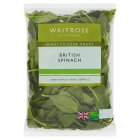Waitrose ready-washed spinach - 235g