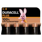 Duracell Plus Power C Batteries Alkaline - 4s