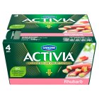Danone activia rhubarb yogurt - 4x125g Brand Price Match - Checked Tesco.com 16/04/2014