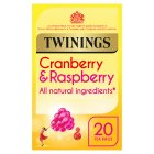 Twinings cranberry & raspberry 20 tea bags - 40g
