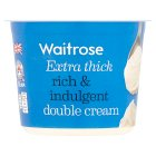 Waitrose extra thick double cream - 300ml