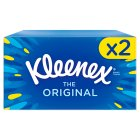 Kleenex Original Tissues, twin pack - 2x72 sheets