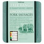 Hampshire breed free range pork Lincolnshire sausage