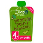 Ella's kitchen organic broccoli, pears and peas - stage 1 - 120g Brand Price Match - Checked Tesco.com 04/12/2013