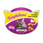 Whiskas Temptations chicken & cheese cat treats - 60g