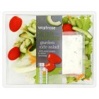 Waitrose garden side salad with sour cream & chive dressing - 205g