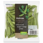 Waitrose trimmed sugar snap peas - 200g