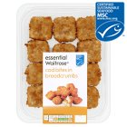 essential Waitrose line caught cod bites in breadcrumbs - 240g