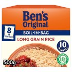 Uncle Ben's boil in bag long grain rice - 8x62.5g