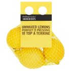 Cooks' Ingredients Unwaxed Lemons - 4s