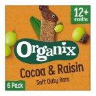 Organix cocoa & raisin cereal bars - 6x30g