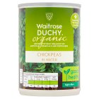 Waitrose Organic canned chick peas - drained 240g