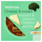 Waitrose Christmas broccoli & Gruyère quiche - 400g