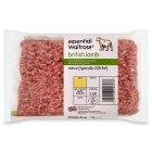 essential Waitrose British lamb mince, typically 20% fat - 500g