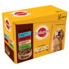 Pedigree small dog pouch selection real meals in gravy