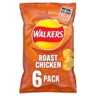 Walkers crisps roast chicken - 6x25g