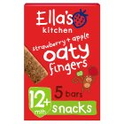 Ella's Kitchen Organic strawberries and apples nibbly fingers baby food - 5x25g