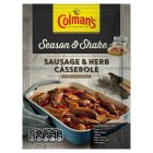 Colman's Season & Shake sausage & herb casserole seasoning mix - 40g Brand Price Match - Checked Tesco.com 01/07/2015