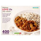 Waitrose Love life you count beef stroganoff with white and wild rice - 370g