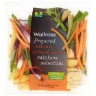Waitrose ready to cook rainbow vegetables - 180g