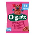 Organix organic raspberry & blueberry rice cakes - stage 2 - 50g Brand Price Match - Checked Tesco.com 05/03/2014